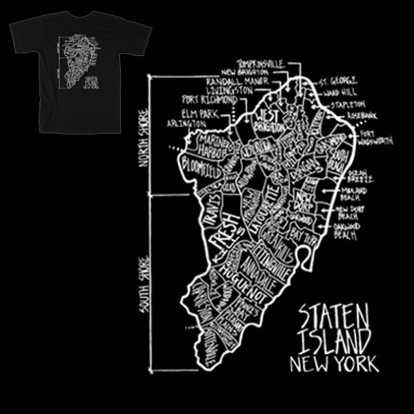 Staten Island Neighborhood T Shirt - Art by Tim Sandberg